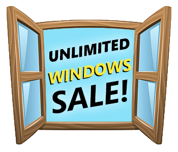 unlimited windows sale